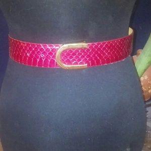 Vintage Genuine Reptile Purple Belt